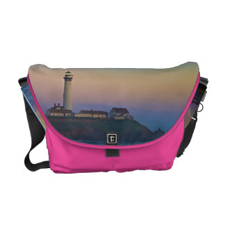 Sunset at Pigeon Point Lighthouse California Courier Bag