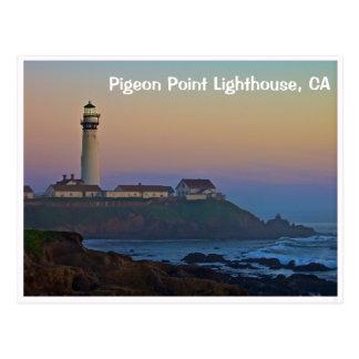 Sunset at Pigeon Point Lighthouse California Postcard