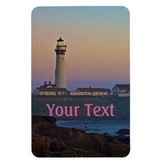 Sunset at Pigeon Point Lighthouse California Rectangular Photo Magnet