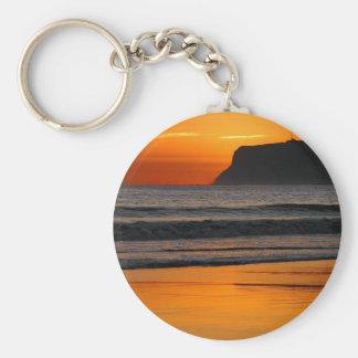 Sunset At Point Loma Basic Round Button Keychain