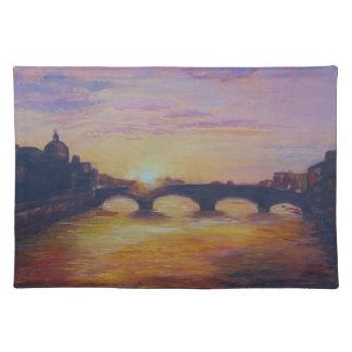 Sunset at Ponte Vecchio Cloth Placemat