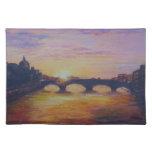 Sunset at Ponte Vecchio Placemats