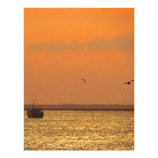 Sunset at port customized letterhead