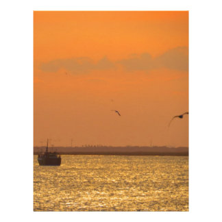 Sunset at port letterhead
