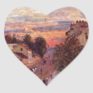 Sunset at Port Marly by Alfred Sisley Heart Sticker
