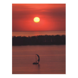 Sunset at Presque Isle Postcard