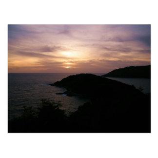 Sunset At Promthep Cape Postcard