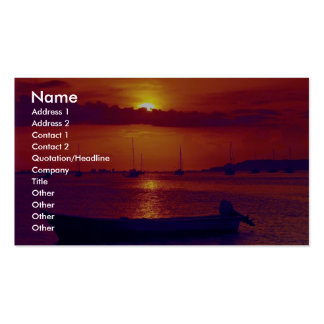 Sunset at Puerto la Cruz, Venezuela Double-Sided Standard Business Cards (Pack Of 100)