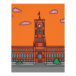 Sunset at Red Cityhall in Berlin Letterhead