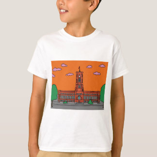 Sunset at Red Cityhall in Berlin T-Shirt