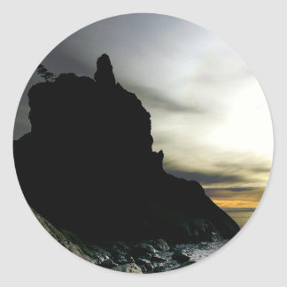 Sunset at Rialto Beach Olympic National Park Classic Round Sticker