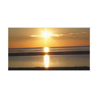 Sunset at Rock Harbor at Cape Cod Canvas Print