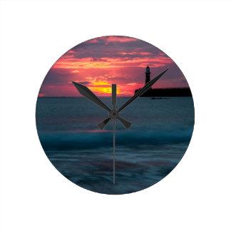 Sunset at Roker Round Clocks