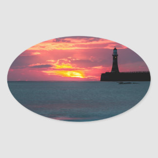 Sunset at Roker Oval Sticker