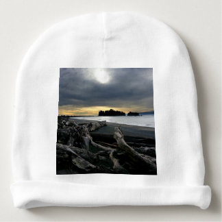 Sunset at Ruby Beach Olympic National Park Baby Beanie