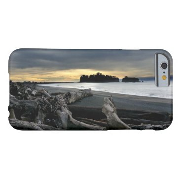 Beach Themed Sunset at Ruby Beach Olympic National Park Barely There iPhone 6 Case