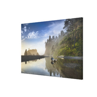 Sunset at Ruby Beach, Olympic National Park, Canvas Print