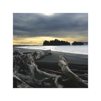 Sunset at Ruby Beach Olympic National Park Canvas Print