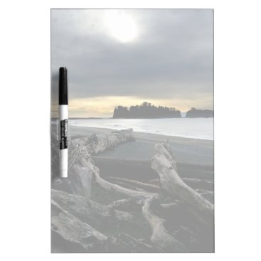 Beach Themed Sunset at Ruby Beach Olympic National Park Dry Erase Board