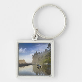 Sunset at Ruby Beach, Olympic National Park, Keychain