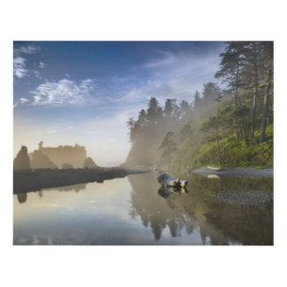 Sunset at Ruby Beach, Olympic National Park Wood Wall Art