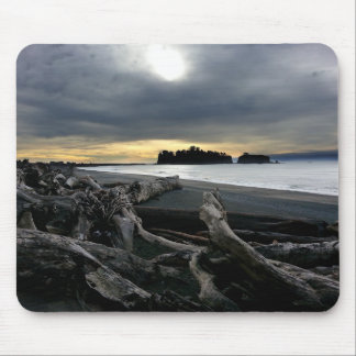 Sunset at Ruby Beach Olympic National Park Mouse Pad