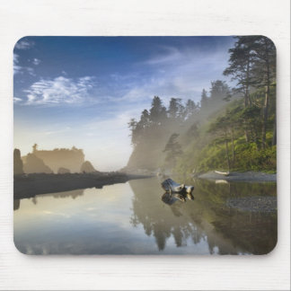 Sunset at Ruby Beach, Olympic National Park, Mouse Pad
