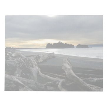 Beach Themed Sunset at Ruby Beach Olympic National Park Notepad