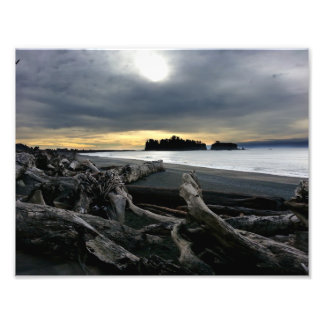 Sunset at Ruby Beach Olympic National Park Photo Print
