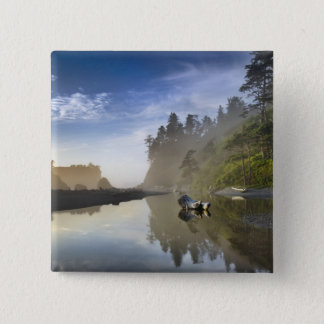 Sunset at Ruby Beach, Olympic National Park, Pinback Button