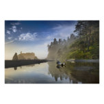 Sunset at Ruby Beach, Olympic National Park, Poster