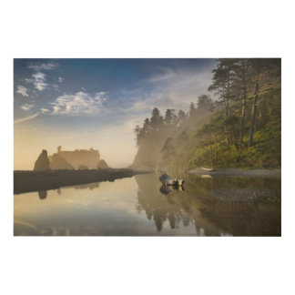 Sunset at Ruby Beach, Olympic National Park, Wood Wall Art