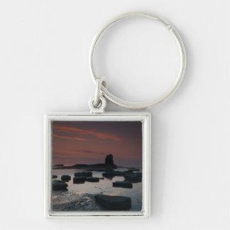 Sunset At Saltwick Bay Keychain