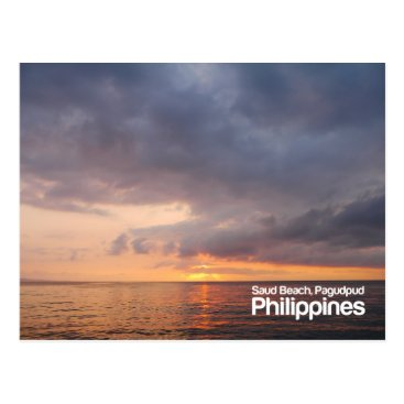 Sunset at Saud Beach Pagudpud Philippines Postcard