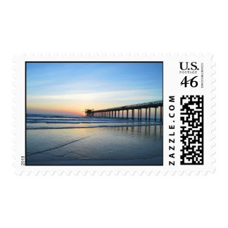 Sunset At Scrippts Pier 2010 Postage