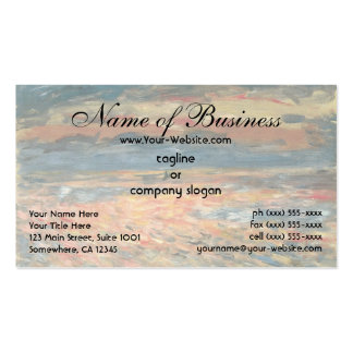 Sunset at Sea by Pierre Auguste Renoir Business Cards