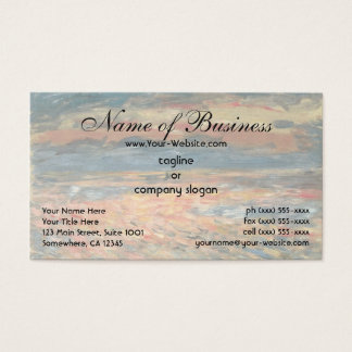 Sunset at Sea by Pierre Auguste Renoir Business Card