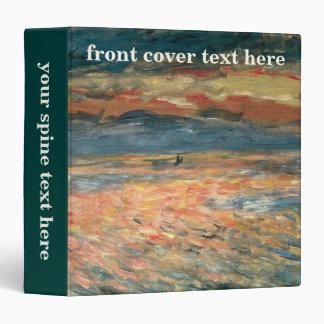 Sunset at Sea by Pierre Renoir, Vintage Fine Art Binder