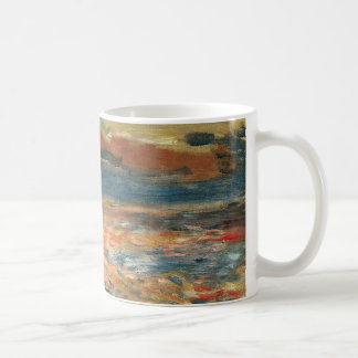 Sunset at Sea by Pierre Renoir, Vintage Fine Art Coffee Mug