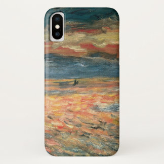 Sunset at Sea by Pierre Renoir, Vintage Fine Art iPhone X Case