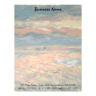 Sunset at Sea by Pierre Renoir, Vintage Fine Art Letterhead