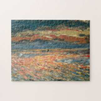 Sunset at Sea by Pierre Renoir, Vintage Fine Art Puzzle