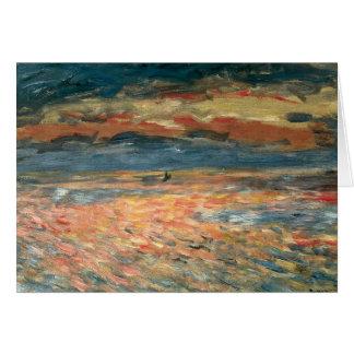 Sunset at Sea by Renoir, Vintage Impressionism Art Greeting Card