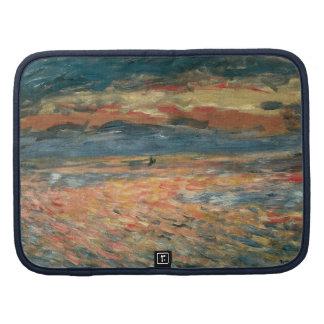 Sunset at Sea by Renoir, Vintage Impressionism Art Folio Planner