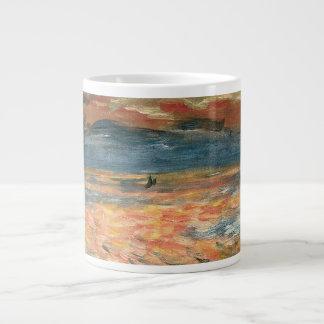 Sunset at Sea by Renoir, Vintage Impressionism Art Extra Large Mug