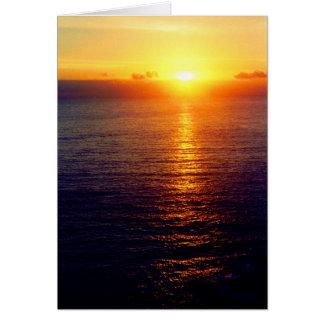 SUNSET AT SEA CARD