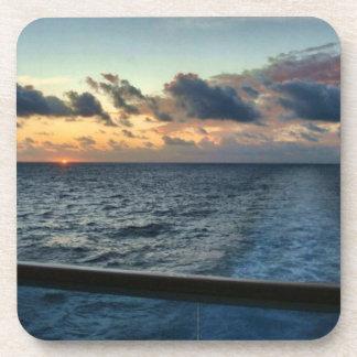 Sunset at Sea Cork Coasters