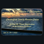 """Sunset at Sea Custom Stateroom Door Marker Magnet<br><div class=""""desc"""">Sunet as seen from an aft balcony of a cruise ship. One of the beauties of cruising - witnessing sunrises and sunsets at sea. Cruise Ships keep getting bigger and bigger. The hallways have longer and longer rows of cabin doors that all look alike! Mark YOUR stateroom door with a...</div>"""