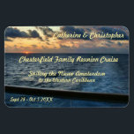 "Sunset at Sea Custom Stateroom Door Marker Magnet<br><div class=""desc"">Sunet as seen from an aft balcony of a cruise ship. One of the beauties of cruising - witnessing sunrises and sunsets at sea. Cruise Ships keep getting bigger and bigger. The hallways have longer and longer rows of cabin doors that all look alike! Mark YOUR stateroom door with a...</div>"