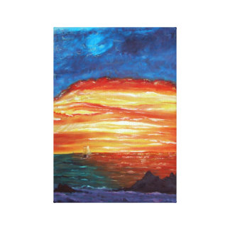 Sunset at Sea Gallery Wrapped Canvas